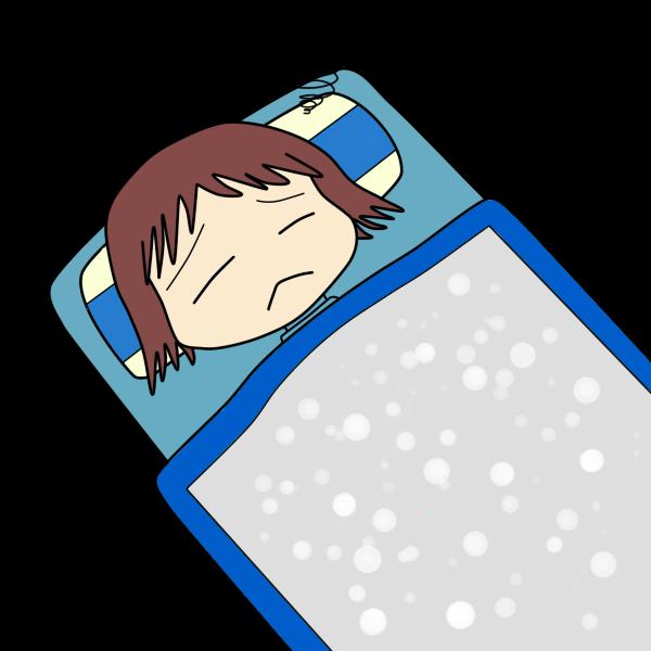 寝付けない人
