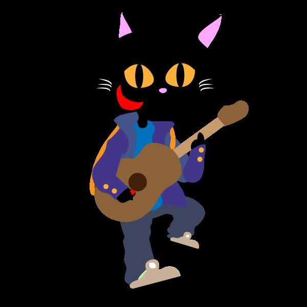 ストリートミュージシャンオス猫