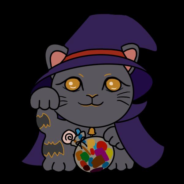 ハロウィン招き猫