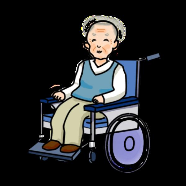 車椅子男性