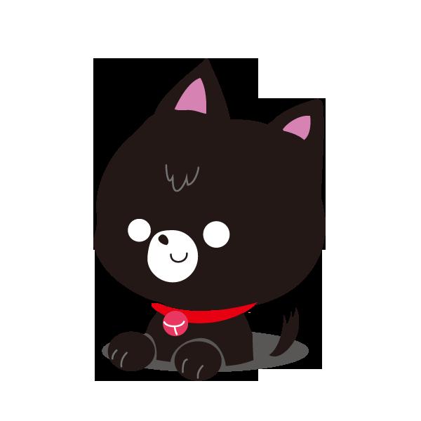 穴から猫(黒)