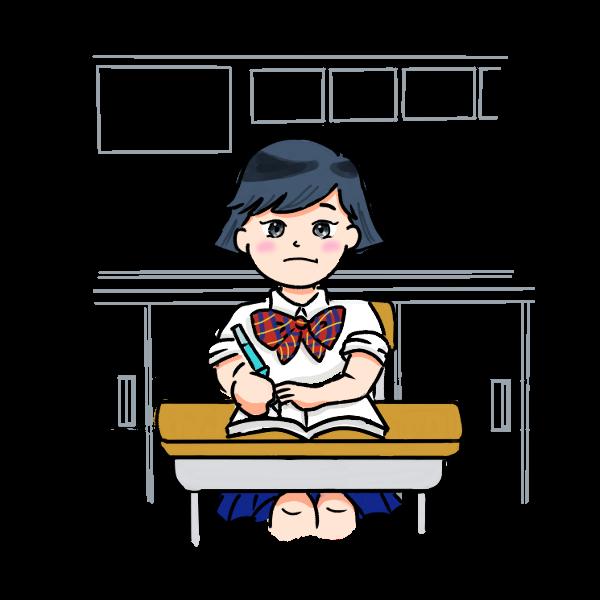 授業中女子学生