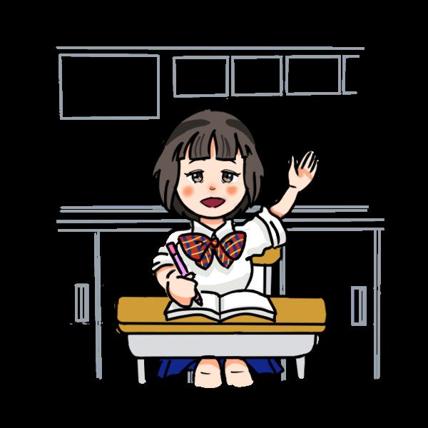 授業中女子学生2