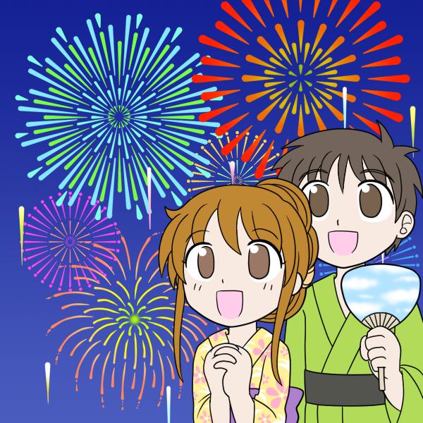 花火大会・カップル