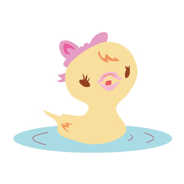 水に浮かぶ鳥 メス