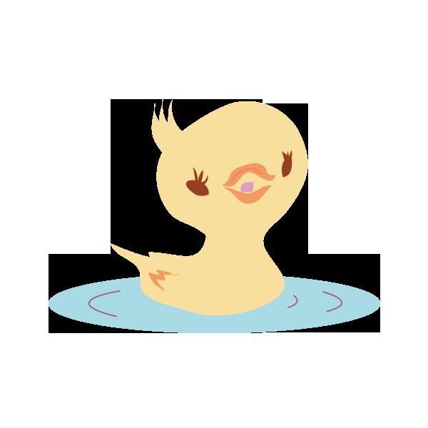 水に浮かぶ鳥 オス