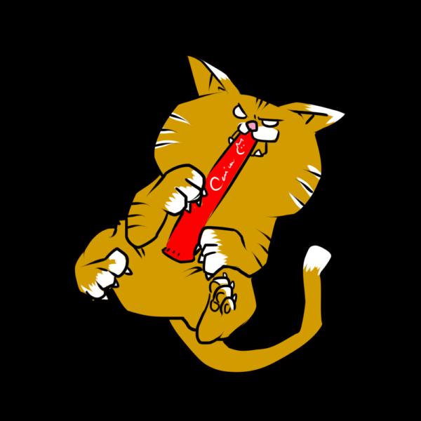 大好物で猛獣化する猫