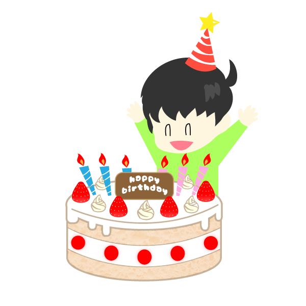 誕生日を祝う男の子