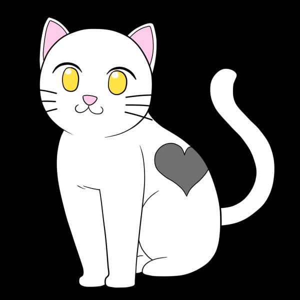 ハート模様の猫