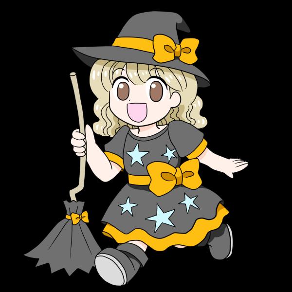 ハロウィン仮装の女の子
