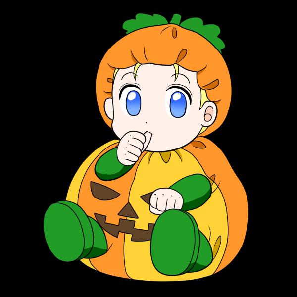 ハロウィン仮装の赤ちゃん