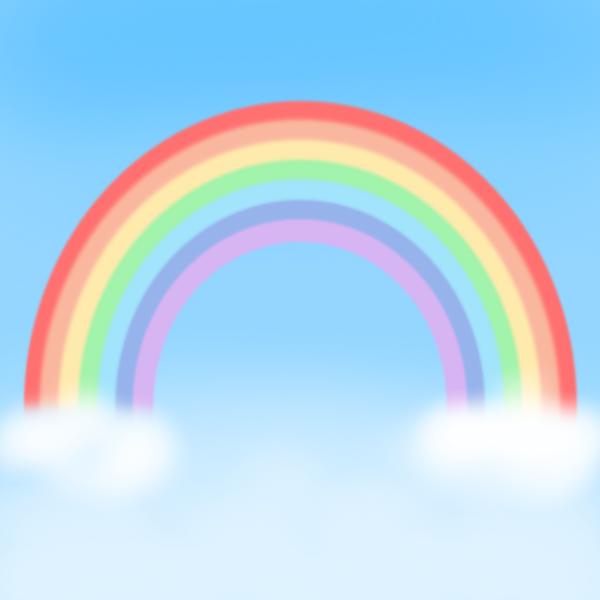 虹(背景あり)