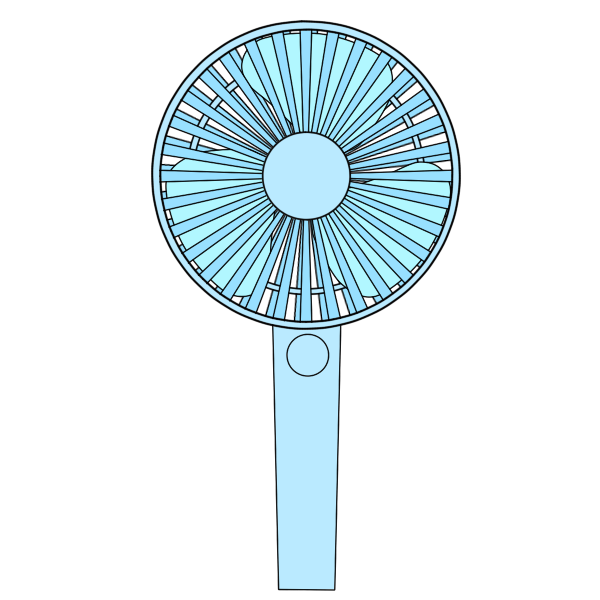 携帯扇風機 水色