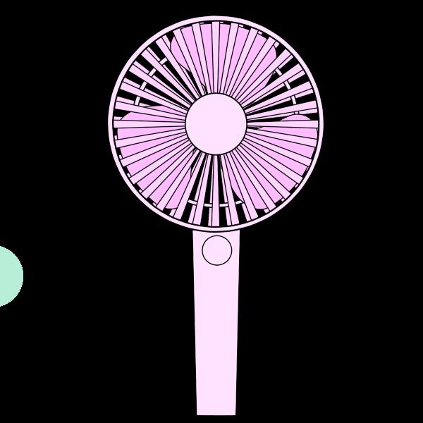 携帯扇風機 ピンク