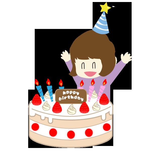 誕生日を祝う女の子